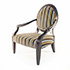 Duresta Nero Chair in Black Finish with Striped Fabric