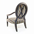 Duresta Nero Chair in Black Finish with Striped Fabric 3