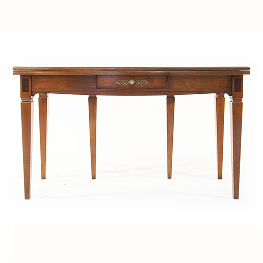 Italian Cherry Wood Expanding Console Table with Drawer 2