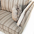 John Sankey Barouche in Neutral Stripe Fabric and Velvet Details 2