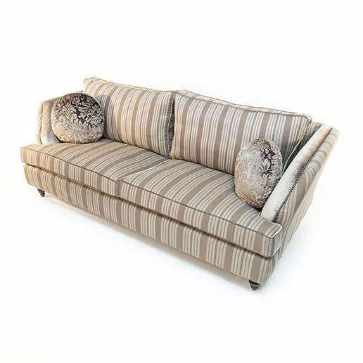 John Sankey Barouche in Neutral Stripe Fabric and Velvet Details 3