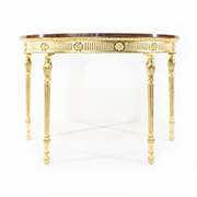 Jonathan Charles Gold Half Moon Table
