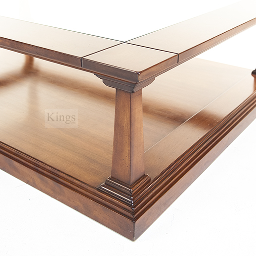 REH Kennedy Classic Coffee Table in Cherry with Glass Top 2