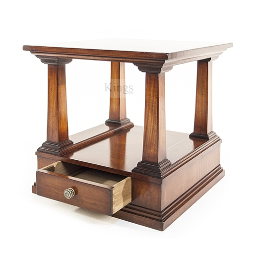 REH Kennedy Classic Lamp Table With Drawer in Cherry Wood 4