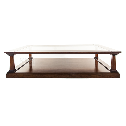 REH Kennedy Classic Coffee Table in Cherry with Glass Top 3