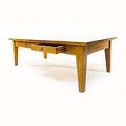 Solid Cherry Three Plank Coffee Table