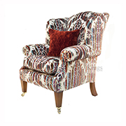 Duresta Somerset Chair in Bancroft Gemstone Fabric