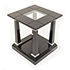 REH Kennedy Classic Lamp Table in Black and Chrome