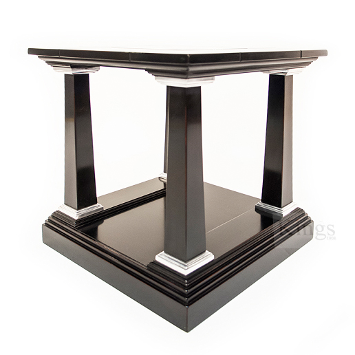 REH Kennedy Classic Lamp Table in Black and Chrome 2