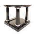REH Kennedy Classic Lamp Table in Black and Chrome2