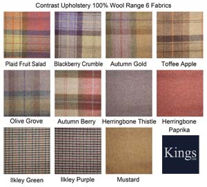 Contrast Upholstery Wool Fabrics