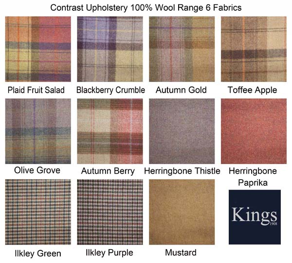 Contrast Upholstery Wool Fabrics  sc 1 st  Kings Interiors & Tetrad Upholstery Battersea Chair In Leather or Fabric