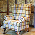 Contrast Upholstery Chaucer Wing Chair In Fabric