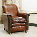 Contrast Upholstery Prince Chair