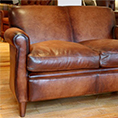 Contrast Upholstery Wessex Leather Sofa