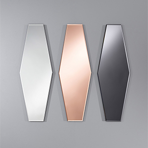 Deknudt Homka Aurelie Mirror Available in Clear, Grey or Pink 2