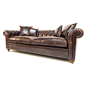 Duresta Connaught Chesterfield Sofa In Clyde Chestnut Leather