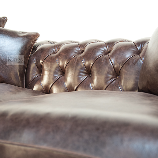 Duresta Connaught Chesterfield Sofa In Clyde Chestnut Leather 4