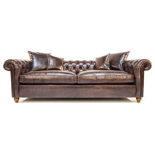 Duresta Connaught Chesterfield Sofa In Clyde Chestnut Leather 6