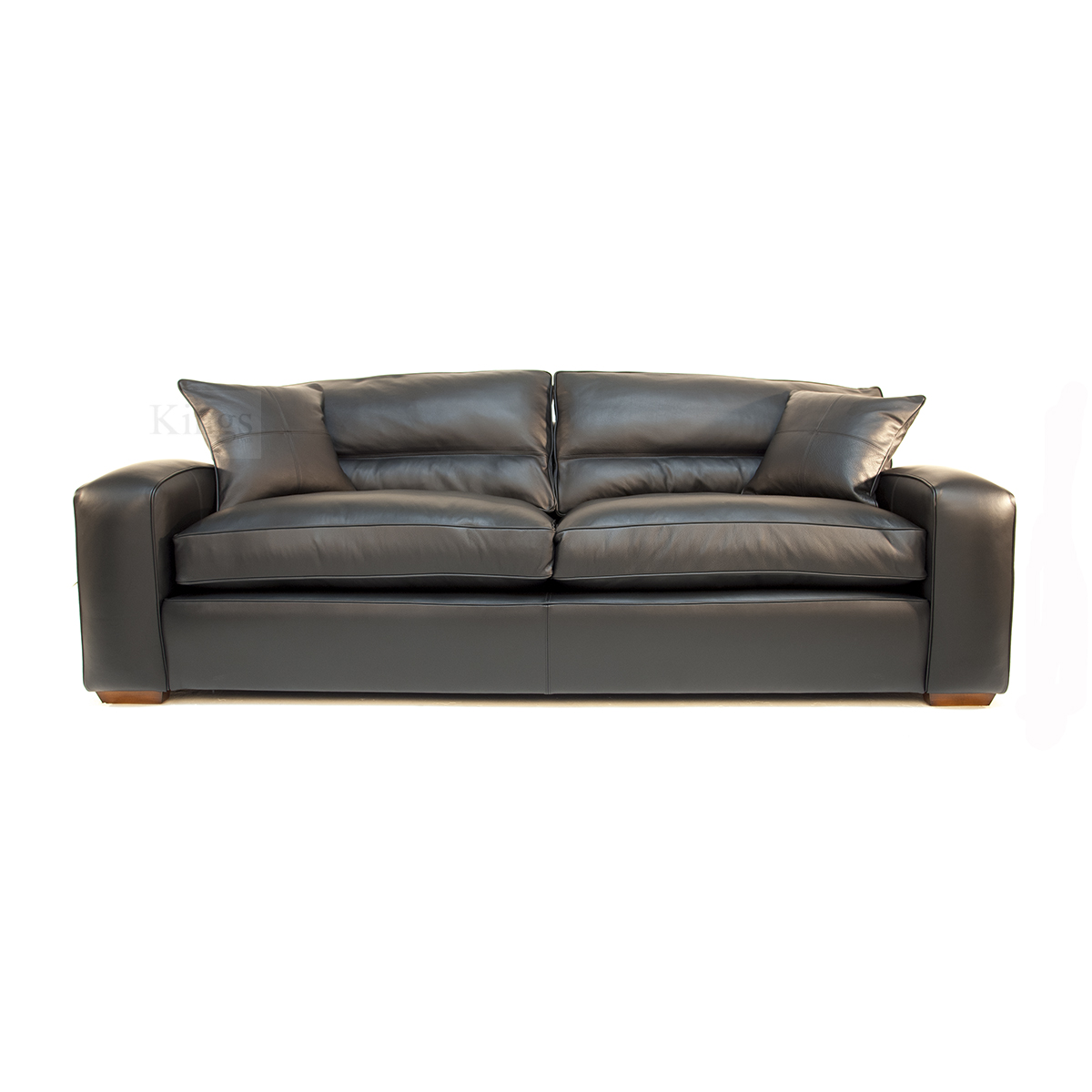 Duresta Upholstery Grand Panther Sofa In Nero Black Leather: sofa aufpolstern