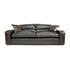 Duresta Upholstery Grand Panther Sofa in Nero Black Leather. 5