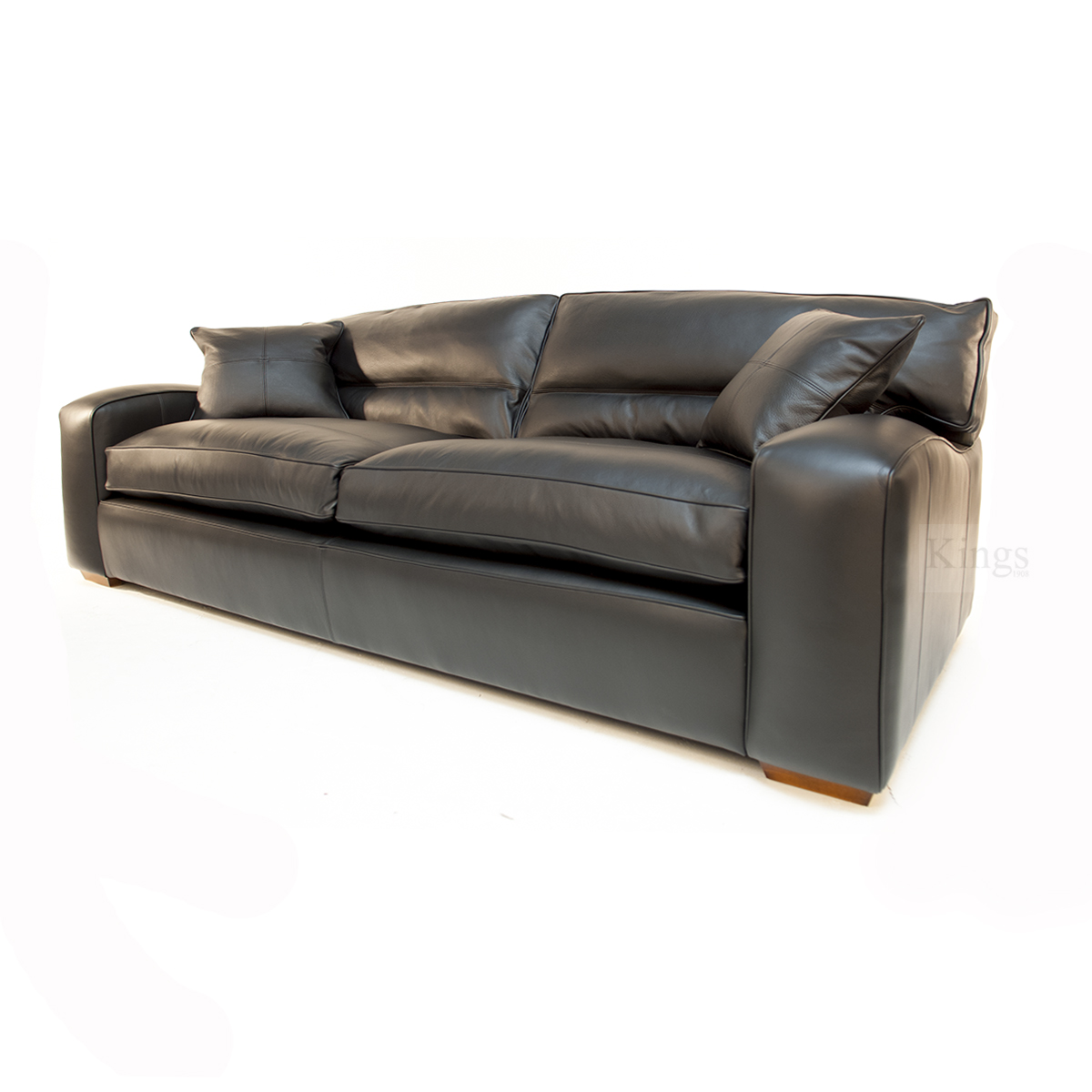 Duresta Upholstery Grand Panther Sofa In Nero Black