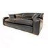 Duresta Upholstery Grand Panther Sofa in Nero Black Leather.