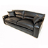 Duresta Upholstery Grand Panther Sofa in Nero Black Leather. 4