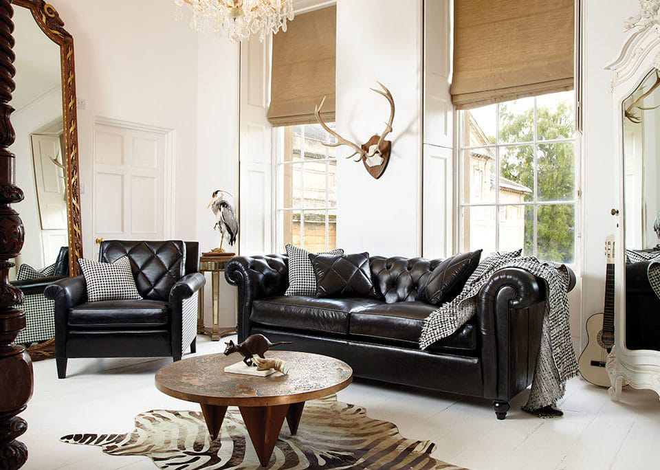 Duresta Connaught Grand Sofa In Leather Kings