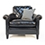 Duresta Gabrielle Chair in Nero Leather 3