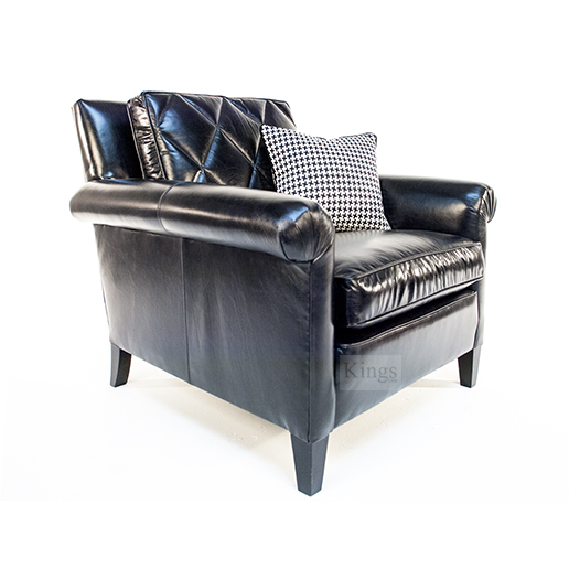 Duresta Gabrielle Chair in Nero Leather