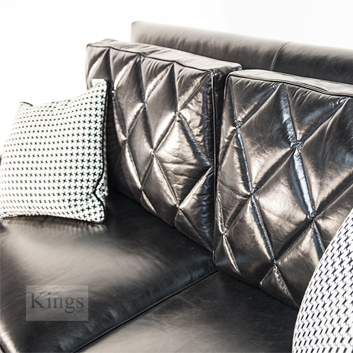 Duresta Gabrielle Sofa in Nero Black Hide 3