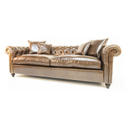 Duresta Connaught Chesterfield Sofa In Walnut Leather