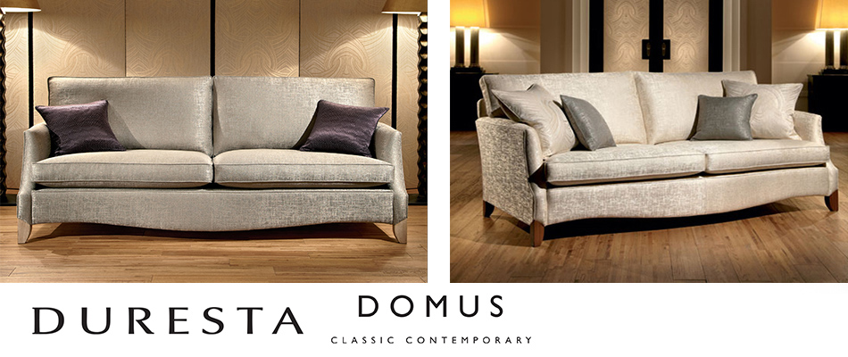 Duresta Domus call and see the latest luxury upholstery collection at Kings Interiors. Clean lines and perfect tailoring make the Domus collection the first choice for the contemporary interior.