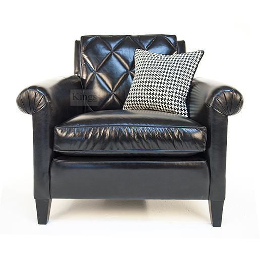 Duresta Gabrielle Sofa and Chair in Black Leather 3