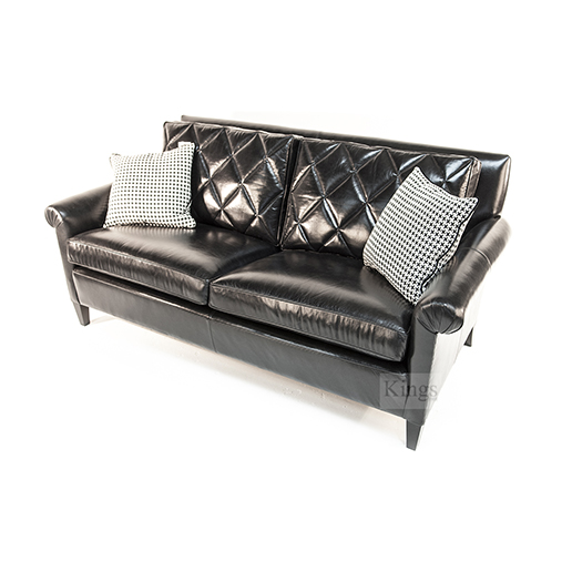 Duresta Gabrielle Sofa and Chair in Black Leather 5