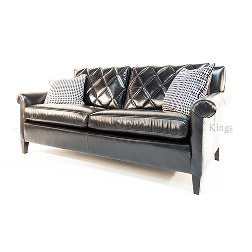 Duresta Gabrielle Sofa and Chair in Black Leather