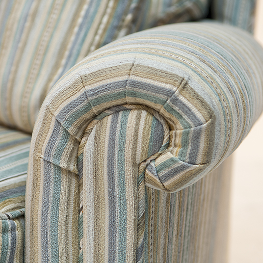 Duresta Southsea Sofa and Two Chair in Stripe Fabric 4