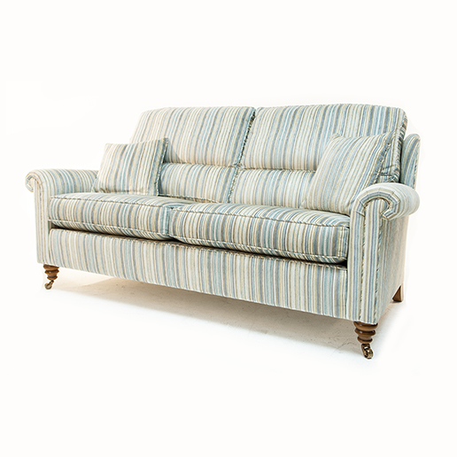 Duresta Southsea Sofa and Two Chair in Stripe Fabric