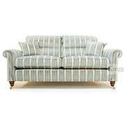 Duresta Southsea Medium Sofa and Chair in Tracery Garden Limestone Blue
