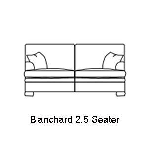 Duresta Blanchard 2 and Half Seater Cushion Back