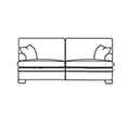 Duresta Blanchard 3 Seater Sofa Cushion Back
