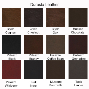 Duresta Plantation Leather Swatches