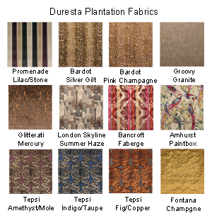 Duresta Plantation Selected Fabrics