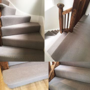 100% New Zealand Wool Carpet Fitted to Stairs and Landing By Calvin