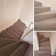 100% wool loop pile carpet from Telenzo Expertly fitted by Ben