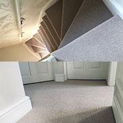 Beautifully fitted by Andy, 100% wool loop pile carpet from Victoria Carpets of Kidderminster