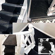 Stairs and Landing In Victoria Carpets Tudor Twist Jet Set
