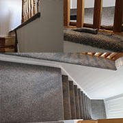 Hall, stairs and landing fitted by Terry. A tricky fit around the spindles but superbly finished. Excellent job.