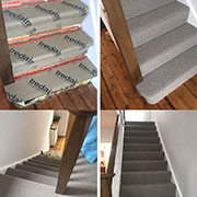 A beautifully fitted stairs and landing by Calvin.